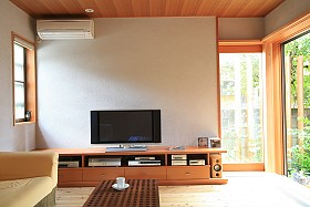A Ductless Mini-Split in a living room